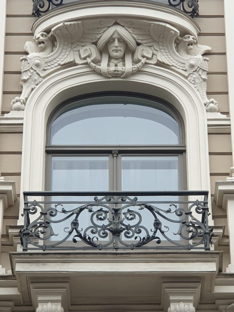 decoro finestra palazzo liberty in Elizabetes Iela 33 Riga