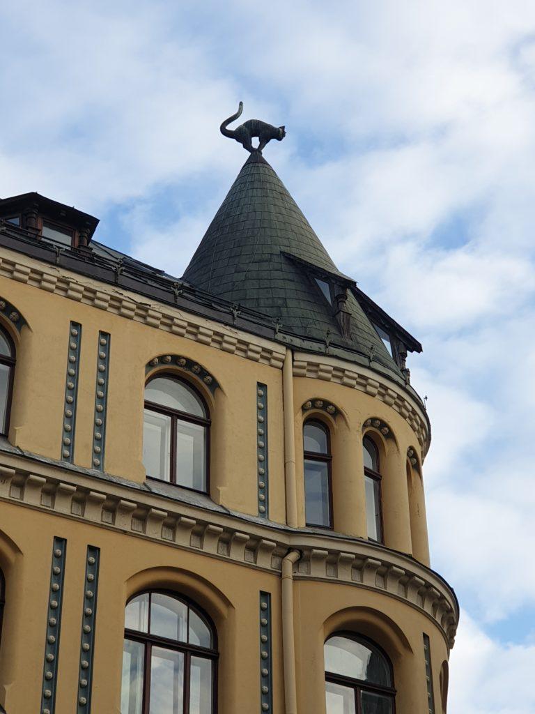particolare della casa del gatto a Riga