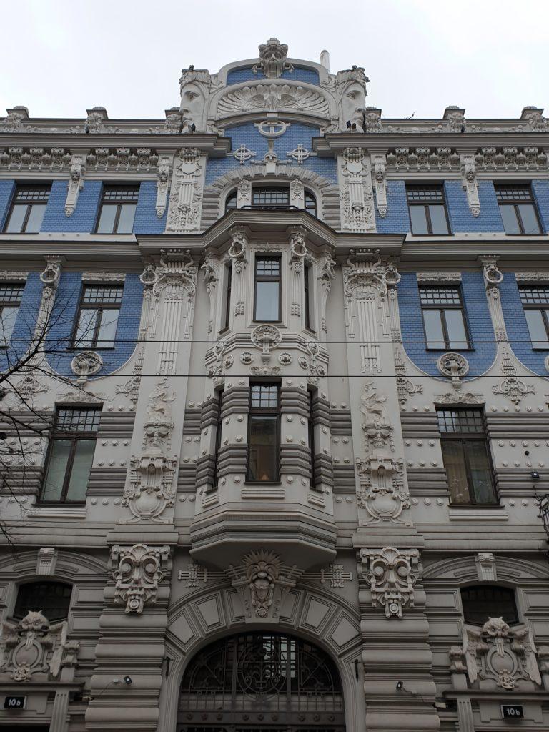 facciata palazzo liberty in Elizabetes Iela 10b