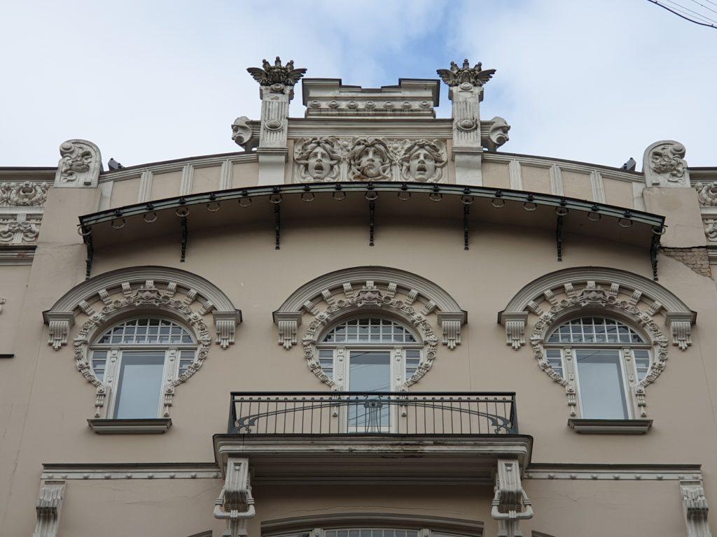 particolari finestre palazzo liberty in Alberta Iela 4 riga