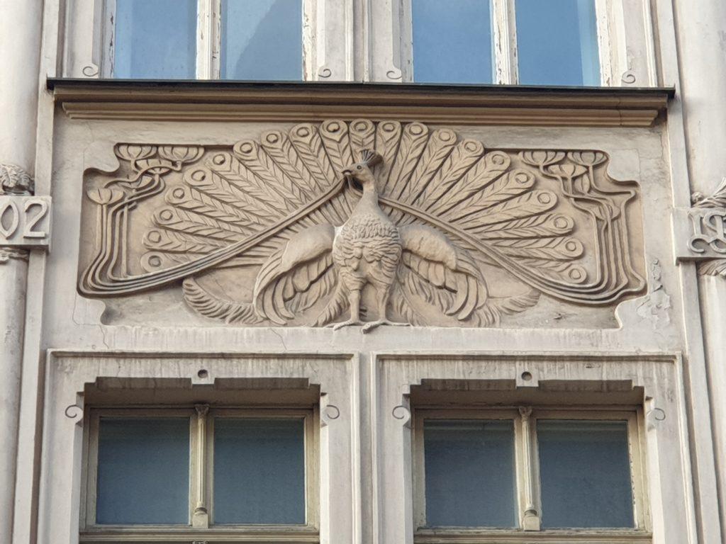 decoro pavone palazzo liberty in Smilsu Iela 2 Riga