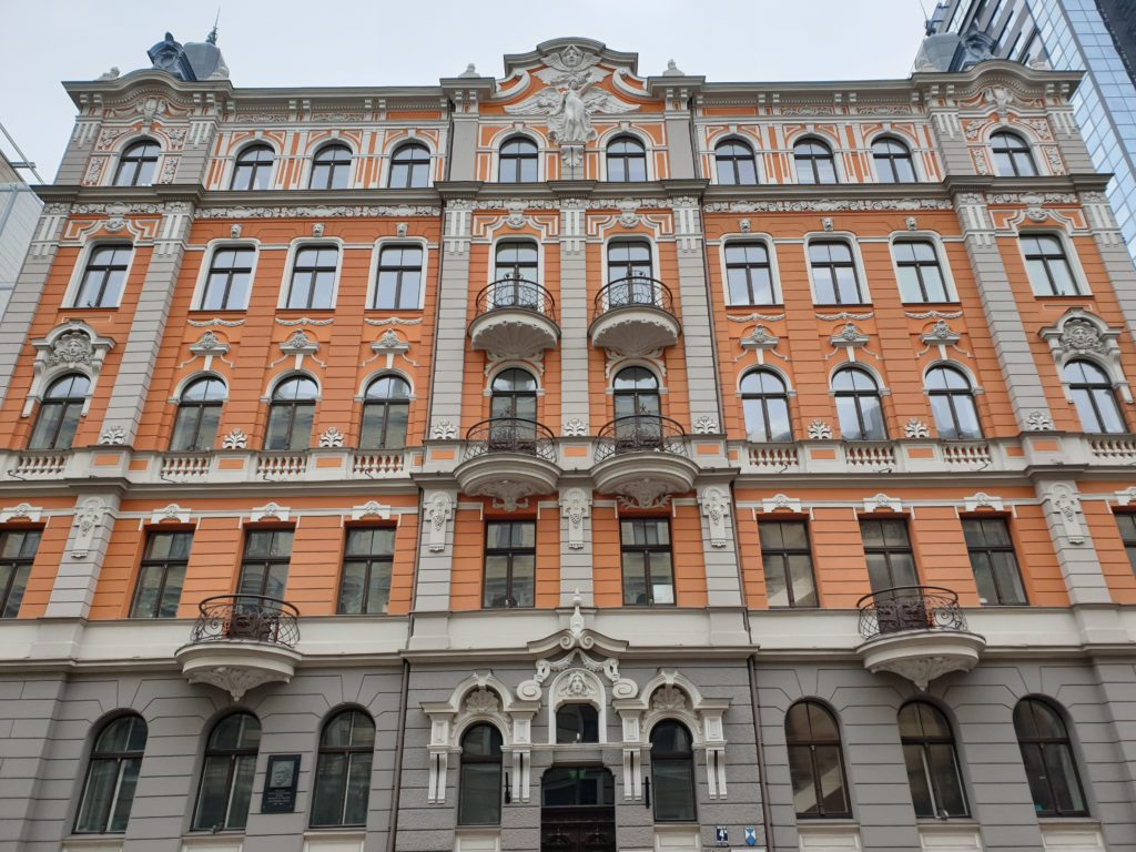 facciata stile liberty a Riga