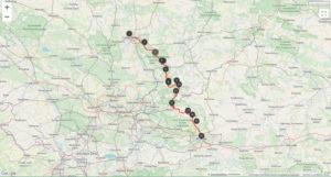 Mappa sentiero dei nidi delle aquile Polonia