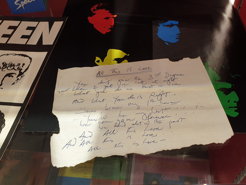 Queen manoscritto dall'album Hot Space