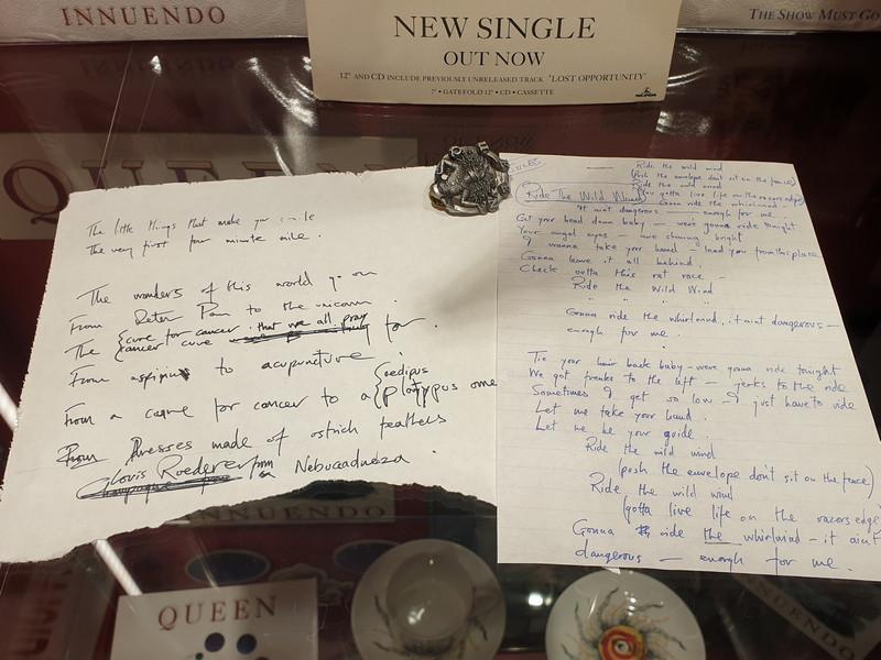 Queen manoscritti dall'album Innuendo