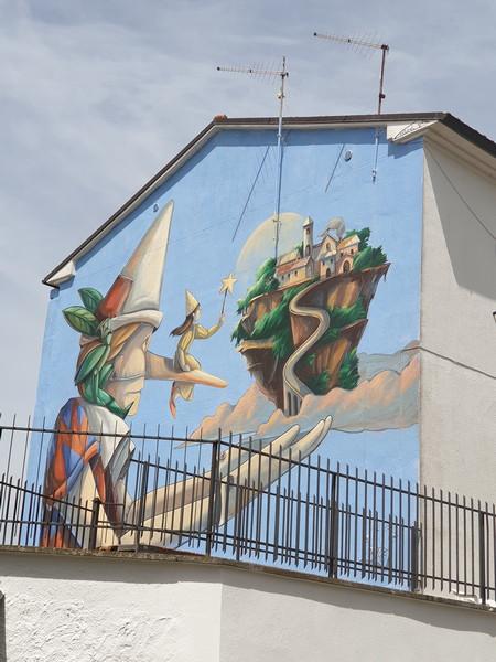 Pinocchio e il volo di Civita a San'Angelo di Roccalvecce