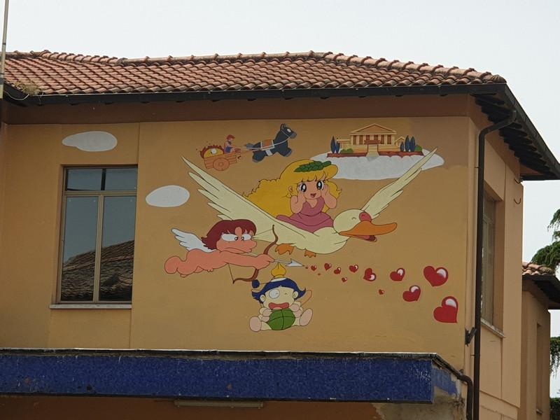 Pollon murales a Castel Cellesi