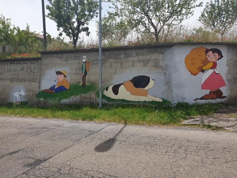 Heidi murales a Vetriolo