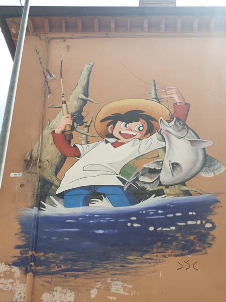 Sampei murales a Vetriolo