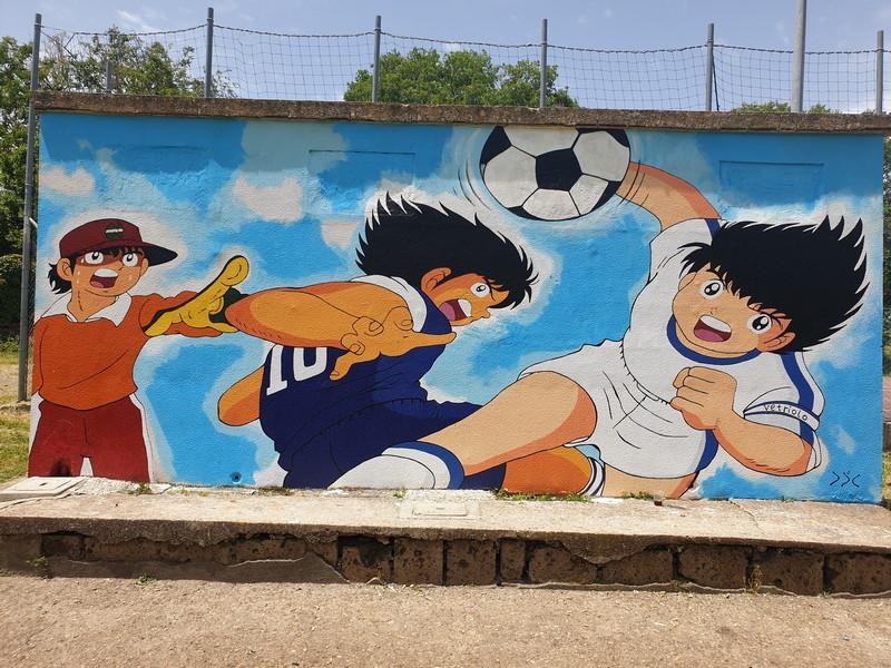 Holly e Benji murales a Vetriolo