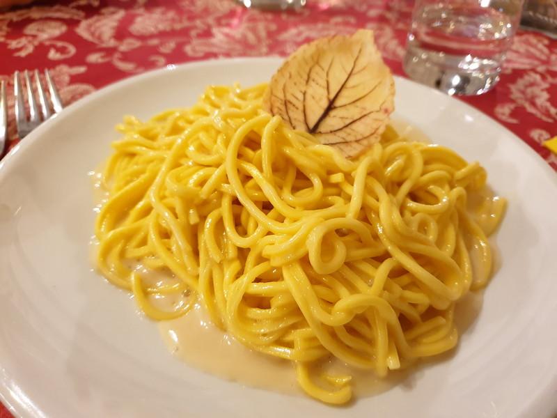 Ristorante Il Transumante Villetta Barrea tonelli al tartufo bianco e timo selvatico