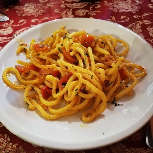 Ristorante Il Transumante Villetta Barrea tonelli al timo selvatico con pomodorini