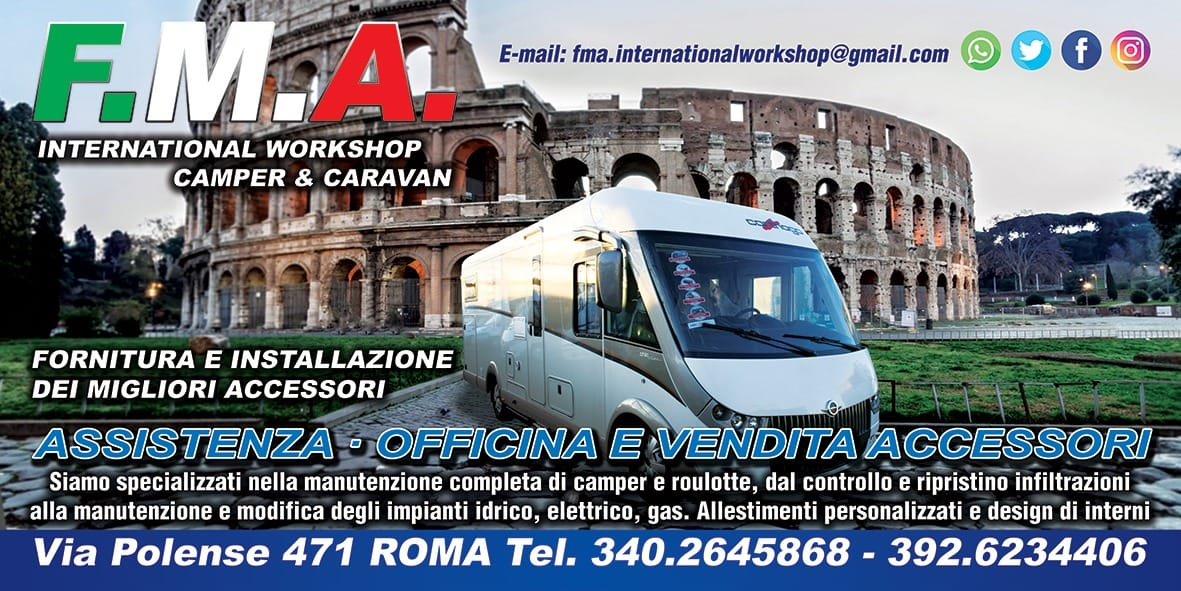 FMA international workshop camper e caravan