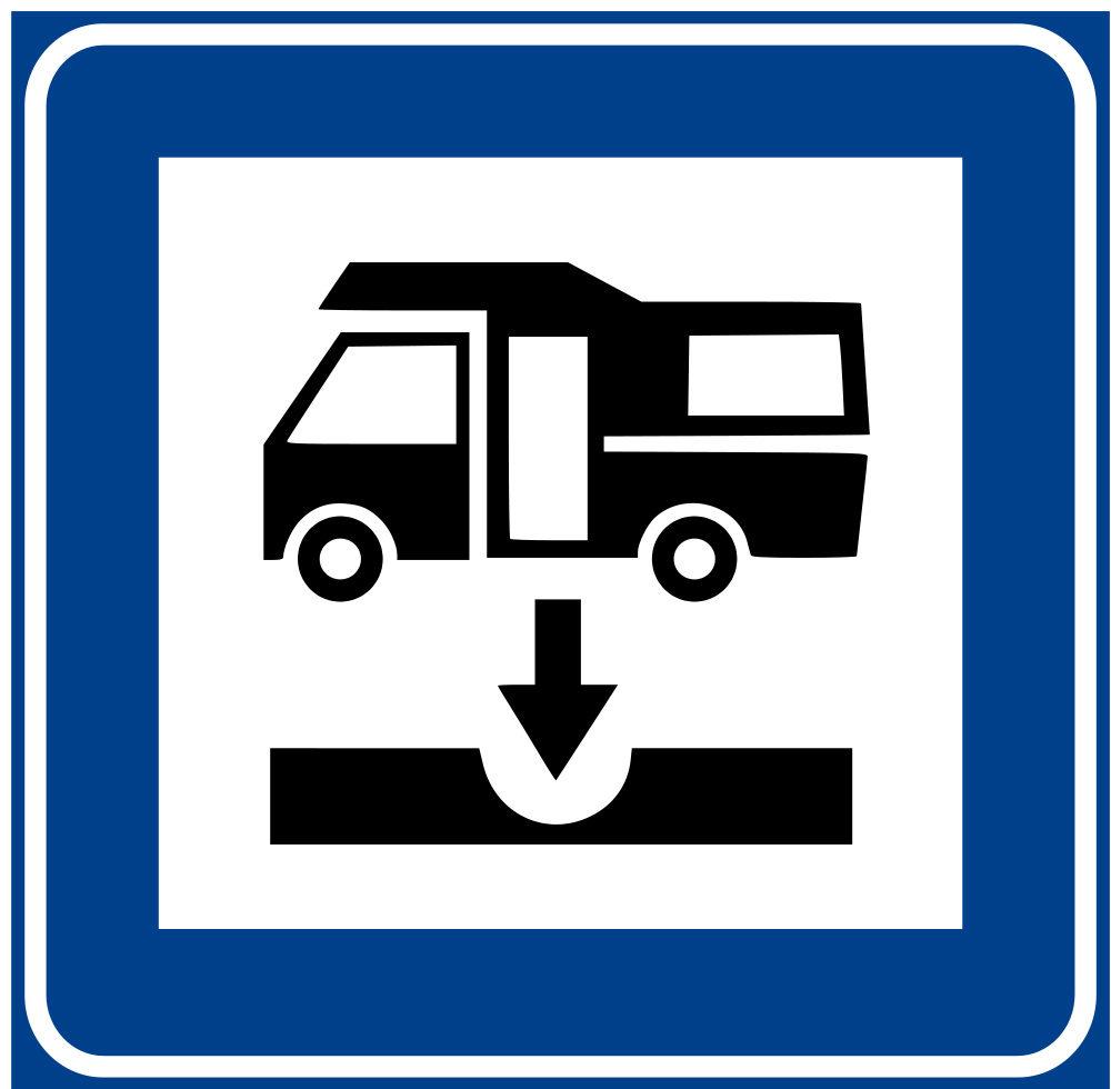 Logo che indica presenza di camper service